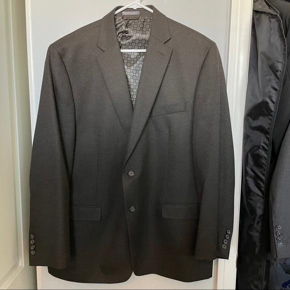 ralph lauren blazer suit brown jacket